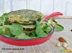 Pancakes agli spinaci con uvetta e pinoli