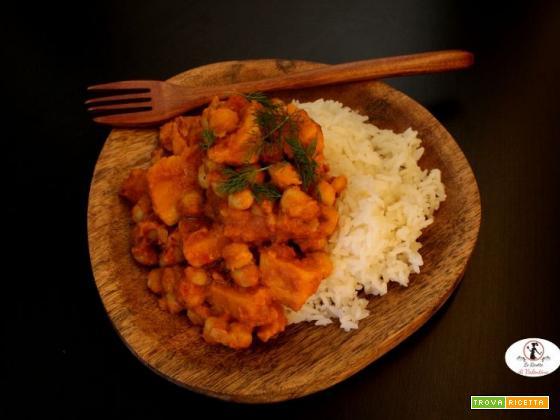 Curry di patate dolci e latte di cocco in pentola a pressione elettrica