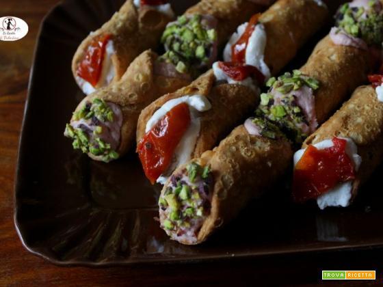 Giovedì grasso: cannoli salati arlecchino