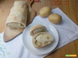 Strudel con cavolini di Bruxelles e patate