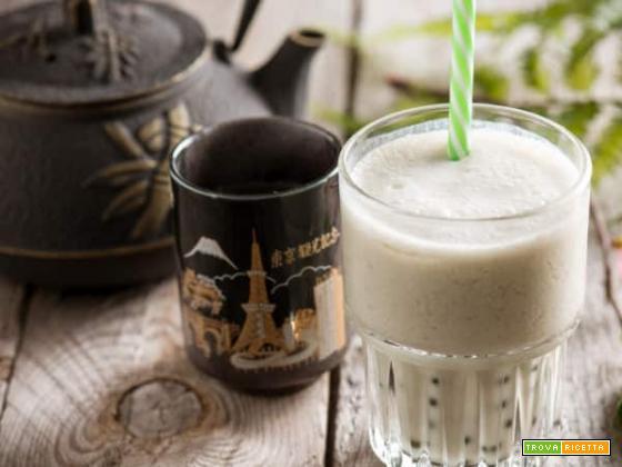 Bubble tea al tè matcha senza glutine e senza lattosio