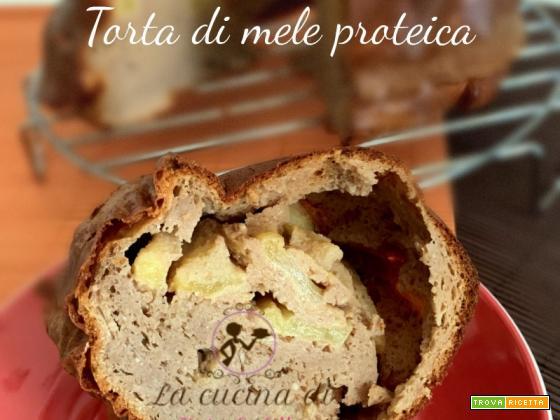 Torta di mele proteica | Ricetta fit