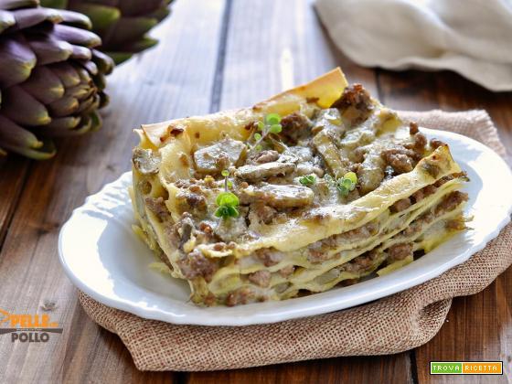 Lasagne ai carciofi e ragù bianco