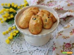 Madeleine salate alle verdure, un antipasto per l'8 Marzo