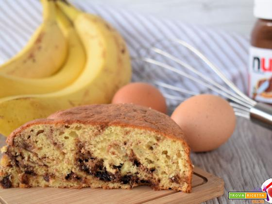 Torta facile con banane e Nutella
