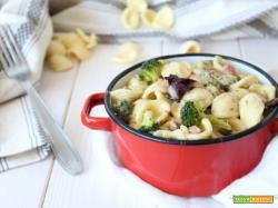 Orecchiette con broccolo radicchio e pancetta