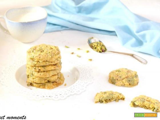 Biscotti cookies al pistacchio