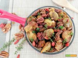 Cavolini di bruxelles con aceto balsamico e noci pecan