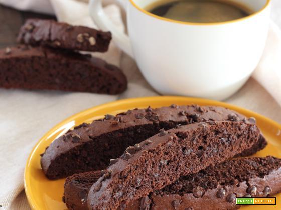 Biscotti al doppio cioccolato e caffè