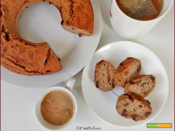 Ciambella Proteica Banana Yogurt e Cioccolato