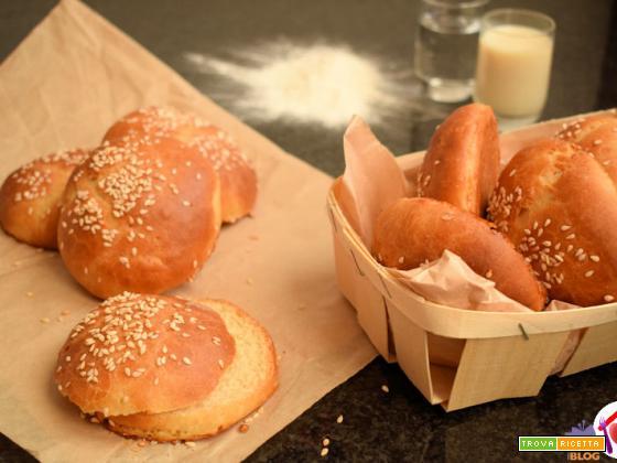 Panini per hamburger al latte di soia