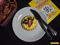 Crostatine con crema al mascarpone e zafferano