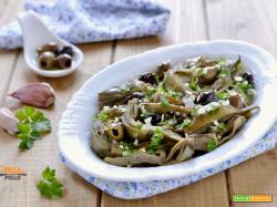 Carciofi trifolati con olive taggiasche
