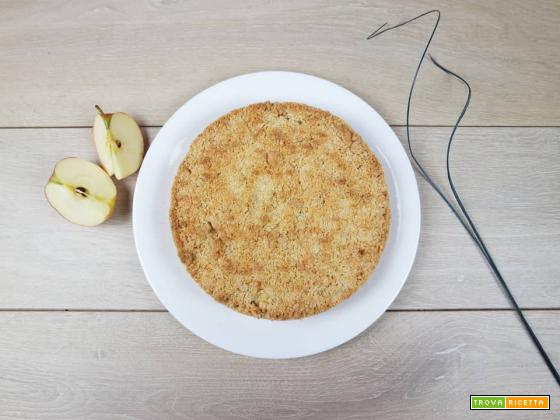 Torta sbriciolona alle mele senza latte e senza burro
