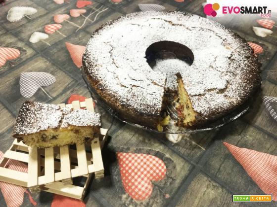 Ciambella all'ananas e gocce di cioccolato senza glutine e lattosio