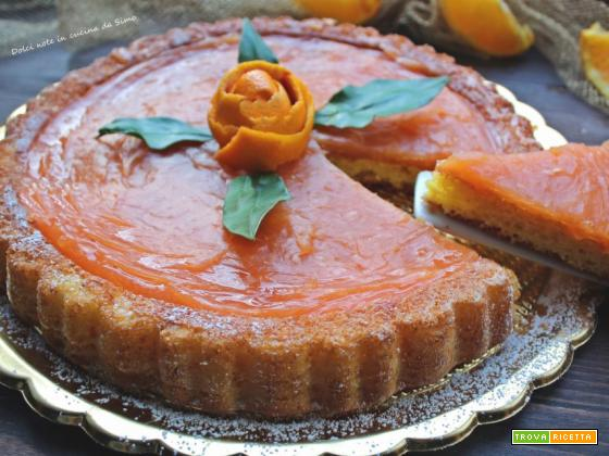 CROSTATA morbida allo yogurt e crema all'arancia