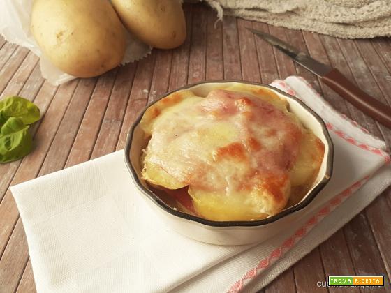 Tortino di patate e mortadella