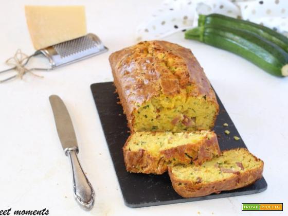 Plumcake allo zafferano con zucchine e speck