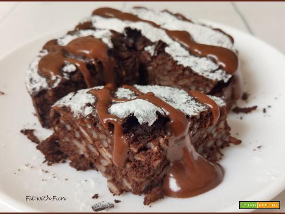Torta Proteica di Riso al Cioccolato e Nocciola
