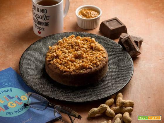 Torta al cacao pralinato di arachidi per la festa del papà!