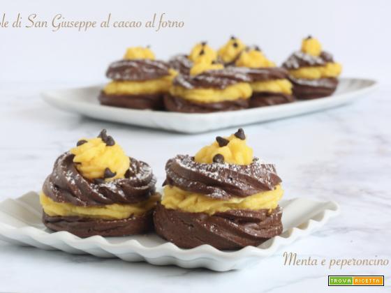 Zeppole di San Giuseppe al cacao al forno