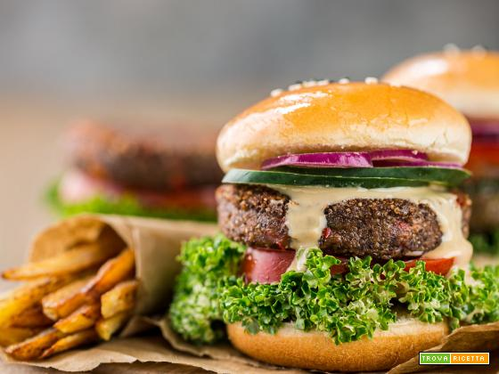 Burger di quinoa e fagioli vegan senza glutine | Vegan Quinoa Black Bean Burger GF