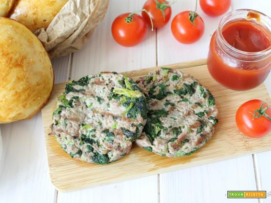 Hamburger di carne e bietola