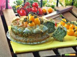 Ciambella salata con spinaci e formaggio