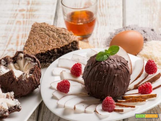 Semifreddo con noci di cocco: estetica e gusto