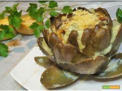 Carciofi ripieni con baccalà e patate