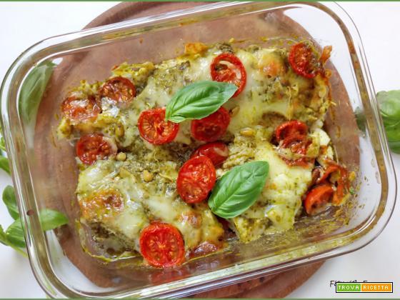 Pollo al Forno con Pesto e Mozzarella