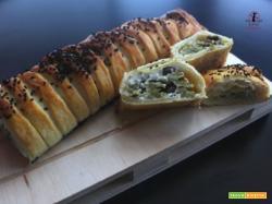 Rotolo di sfoglia con cavolfiore fioretto cotto al forno o in friggitrice ad aria
