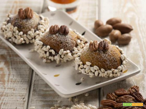 Cupoline al cioccolato e noci pecan: un dessert gustoso