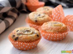 Muffin vegani alla banana e gocce di cioccolato