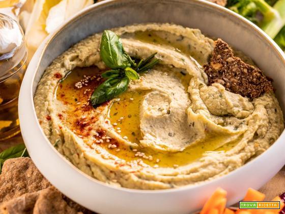 Hummus di Fagioli Bianchi e Aglio Arrostito al Rosmarino  | Roasted Garlic and White Bean Dip with Rosemary