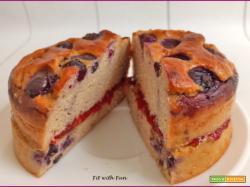 Mini Torta Proteica di Skyr e Mirtilli