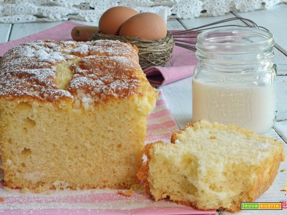 PLUMCAKE al LATTE CALDO ricetta DOLCE FACILE