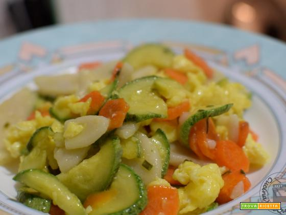 Gnocchi di riso cinesi alle verdure