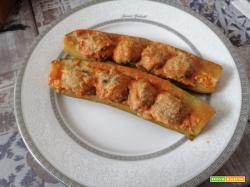 Zucchine con polpettine di carne