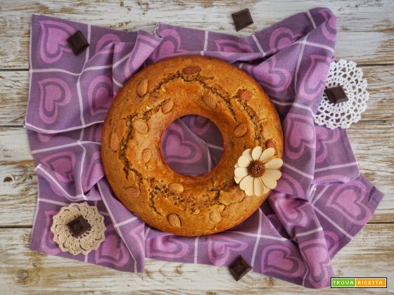 Ciambella con ricotta, cioccolato e mandorle