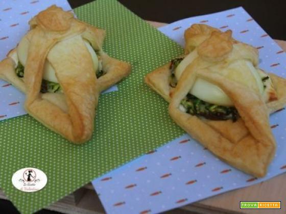 Scrigni Pasquali di sfoglia, zucchine e uova sode: preparati in friggitrice ad aria