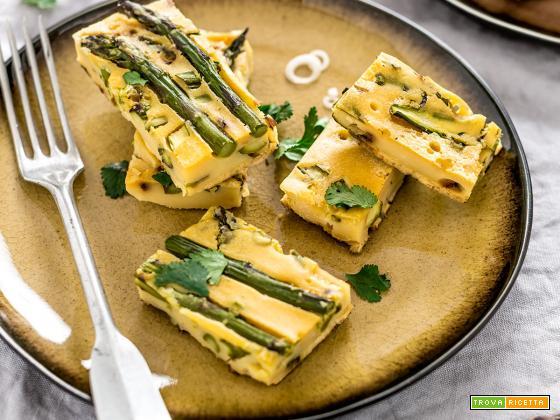 Frittata di Ceci e Asparagi al forno Farifrittata | Vegan Chickpea Asparagus Frittata