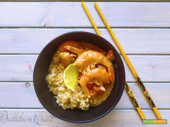 Thai curry di gamberi