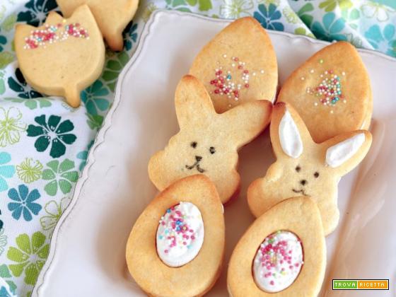 Biscotti di Pasqua farciti con crema paradiso