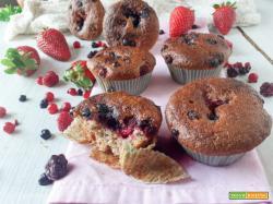 Muffins multivitaminici ai frutti di bosco