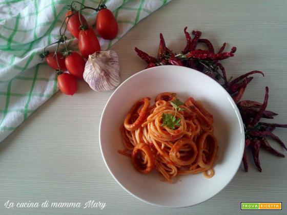 Spaghetti al sugo di totani