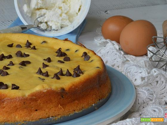 Ricetta torta RICOTTA e gocce di CIOCCOLATO FACILE