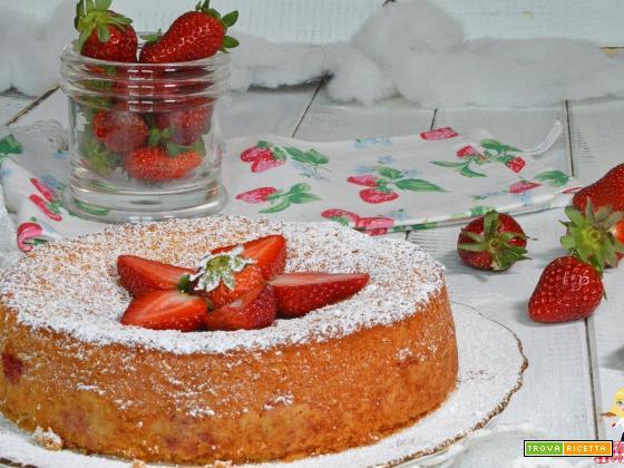 Torta di FRAGOLE SOFFICE ricetta VELOCE