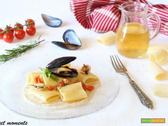 Paccheri con cozze e crema di fagioli