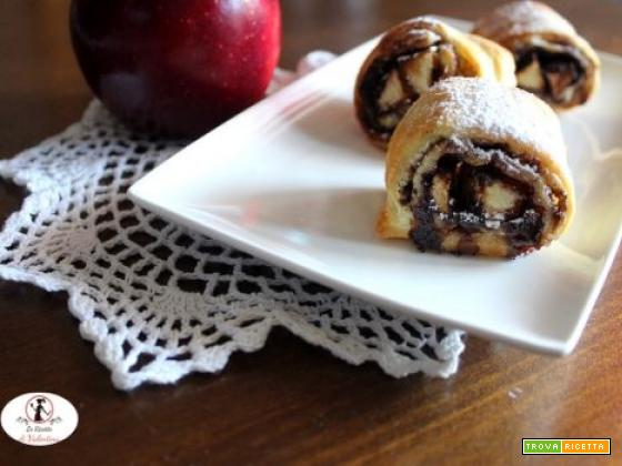 Rustici di mela e cacao in friggitrice ad aria